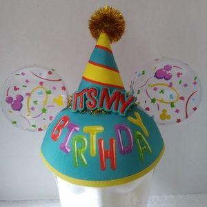 """Disney Parks """"Its My Birthday"""" Mickey Ears Cap"""